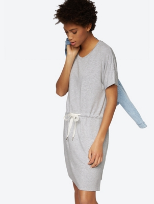 Jersey Dress with Drawstring Waist