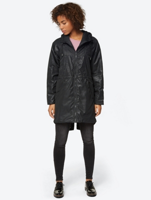 Insulated Parka with Soft Sheen Surface Pattern