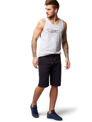 Sweat Shorts with Bench Motif on the Front