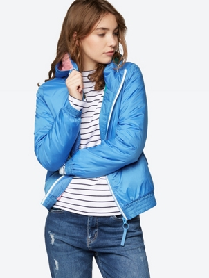 Lined Jacket with Width-Adjustable Hood