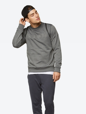 Melange Sweatshirt Literary with Embossed Bench Logo