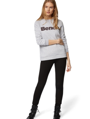 Sweatshirt with Colourful Bench Motif on the Chest