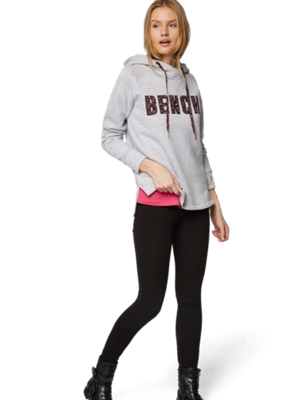 Sweatshirt with Hood and Bench Motif on the Front
