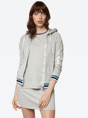 Casual Sweat Jacket with Hood
