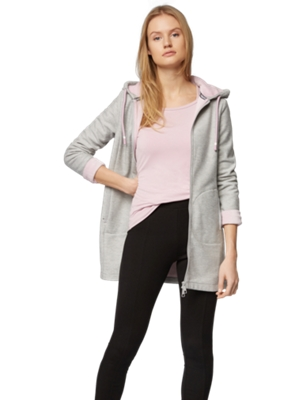 Sweat Jacket with an Elongated Fit