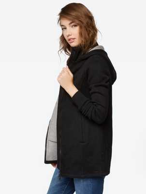 Plain Cardigan with Hood