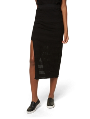 Maxi Skirt with Slit at the Front