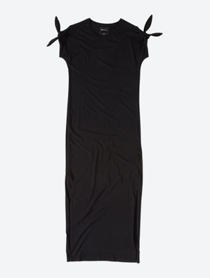 Long Jersey Dress with Side Slits