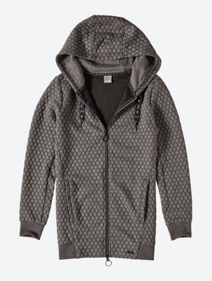 Textured Sweat Jacket with Hood