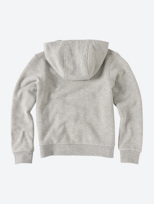 Hoodie with Contrast Logo