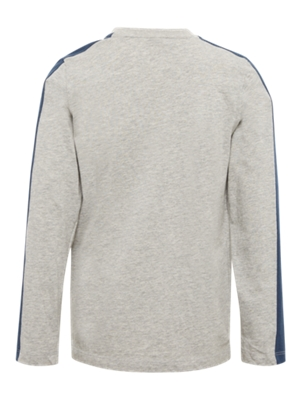 Long-Sleeve Top with Colour-Contrasting Elements on the Sleeves