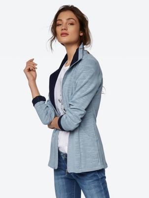 Lange Jacke mit Reißverschluss