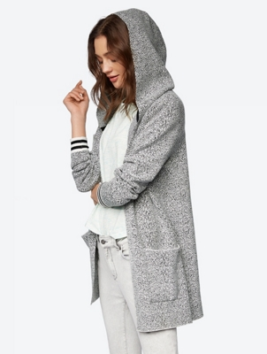 Long Cardigan with Pixel Pattern