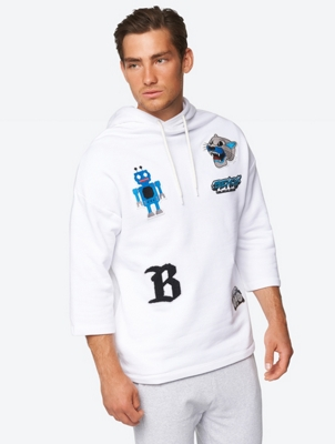 Casual Sweatshirt with Colourful Badges