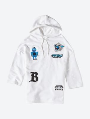 Legeres Sweatshirt mit bunten Badges