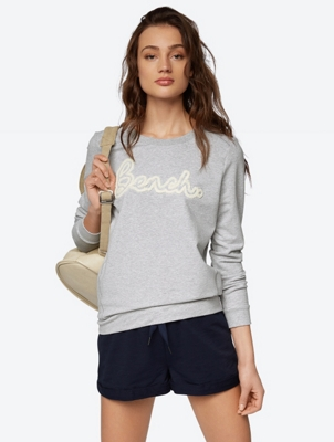 Casual Sweatshirt with Velvety Print