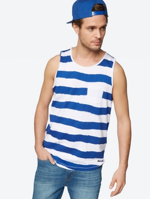 Casual Vest with Stripe Print