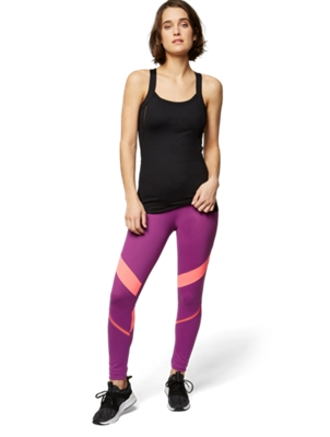 Leggings with Mesh Inserts and Darts