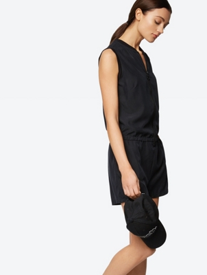 Zip Front Sleeveless Playsuit