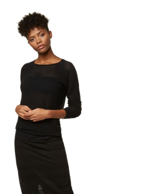 Lightweight Jumper with Perforated Pattern