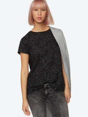 Loose Fit T-Shirt with All Over Print