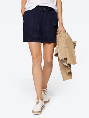 High Waist Culotte Shorts with Belt