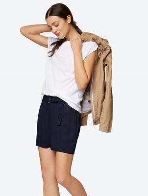 High Waist Culotte Shorts with Belt