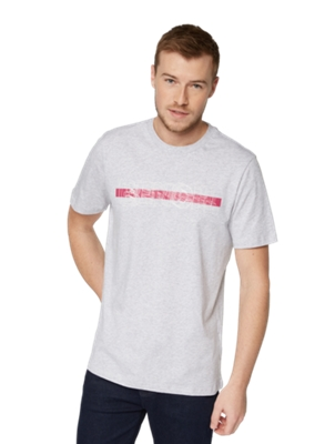 T-Shirt with Rubberised Bench Print on the Front