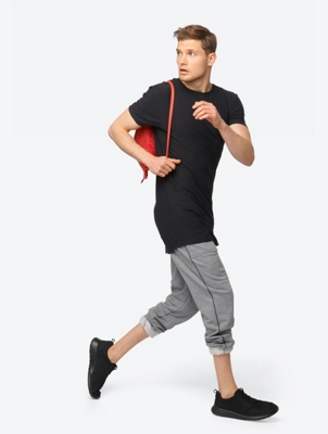 Longline T-Shirt Blacksbeach Tee with Open Hems