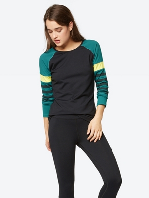 Long Sleeve with Striped Raglan Sleeves