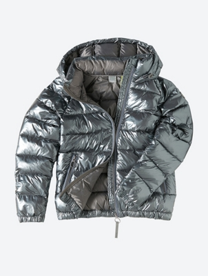 Water Repellent Quilted Jacket in Shiny Look