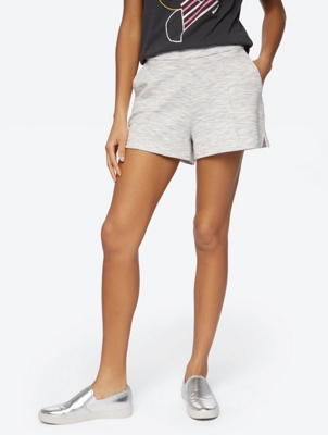 Mehrfarbige Shorts in Melange-Optik