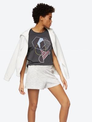 Multicoloured Shorts in Melange Look