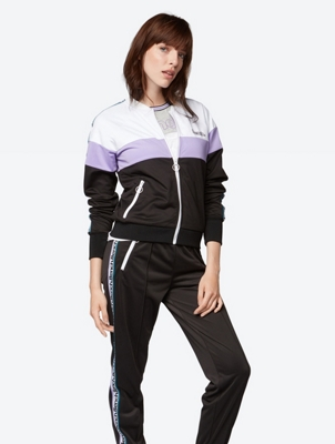Multi-Coloured Sweat Jacket with Zip Pockets