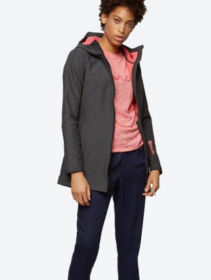 Melange Jacket with Fleece Lining