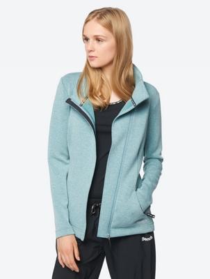 Melierte Jacke mit reflektierendem Bench-Print