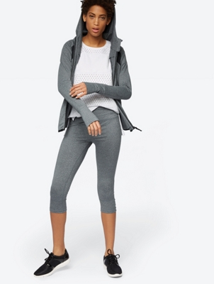 Marl Leggings with Cut-Outs