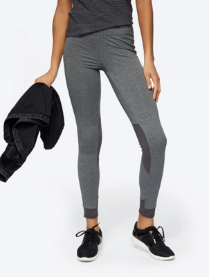 Marl Leggings with Contrast Panels