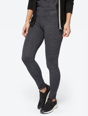 Melange Leggings with Stripe Pattern
