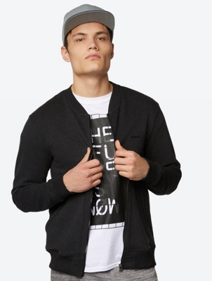 One-colour Marl College jacket