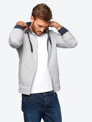Marl Sweat Jacket with Effect Yarn