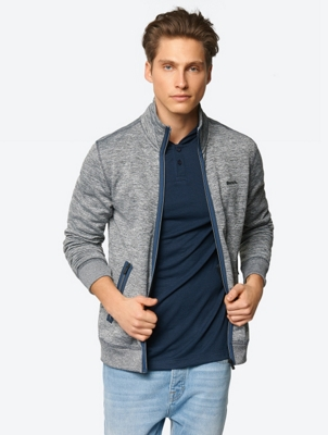 Melange Sweat Jacket with Zip Pockets