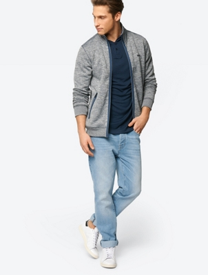 Marl Sweat Jacket with Zip Pockets