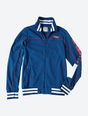Mottled Sweat Jacket with Zip Pockets