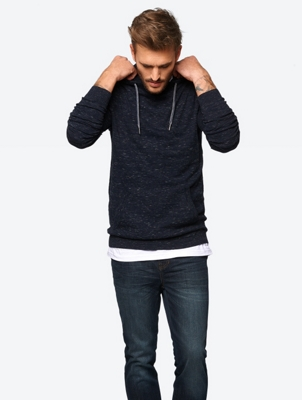 Marl Hoodie with Kangaroo Pocket