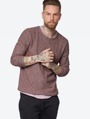 Mottled Jumper with Patch Chest Pocket