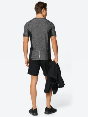 Marl T-Shirt with Perforated Panels