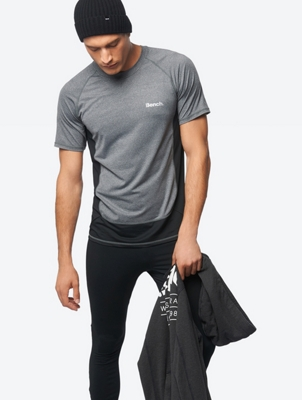 Mottled T-Shirt with Reflective Details
