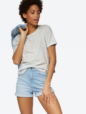 Marl T-Shirt with Turnover Cuffs