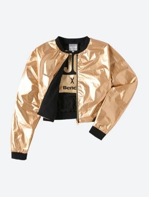 Metallic Look Jess Glynne x Bench Reversible Bomber Jacket Ratherbe